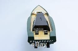 118 Wally Power Luxury Motor Yacht Handmade Wooden Racing Boat Model