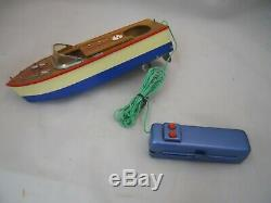 11 Remote Control Runner Wood Boat Model 1950s with Original Box
