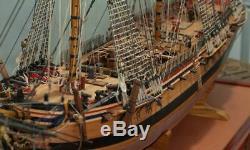 164 Scale DIY Assembly Diane Ship Model DIY Kits Wooden Sailing Boats Desktop