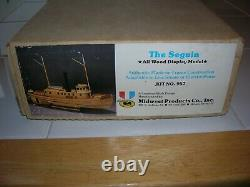 1884 The Seguin Pilot Wood Model Boat VINTAGE MIDWEST MODEL NIB KIT #957 OOP