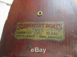1920's Seaworthy Boats Flying Yankee Model 68 Wood Wind-Up Excellent
