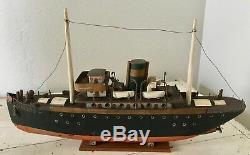 1920s-30s Folk Art BOAT MODEL Nautical Ship LIBERTY Astoria Oregon Pacific NW US