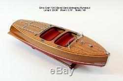 1940 Chris Craft Barrel Back Mahogany Runabout Classic Boat Model 28.5 RC Ready