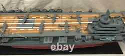 1950's Unryu 60 Japanese aircraft carrier boat ship model WW2 WOOD
