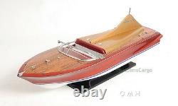 1955 Chris Craft Cobra 21 Foot Runabout Wood Model 33 Speed Boat Mahogany New