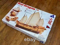 1998 160 scale Wood Model Ship Kit Red Dragon Chinese Junk by Artesiana Latina