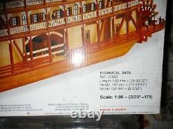 1998 KING OF THE MISSISSIPPI Artesania Latina 180 Wood Steamboat Model Boat Kit