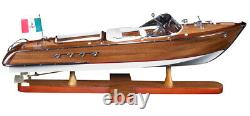 25 Luxury Wood Yacht French Riva Aquarama Boat Home Decor by Authentic Models