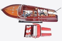 26.5 Medium Riva Aquarama RC SPEEDBOAT Wood Model Assembled Toy Speed Boat Gift