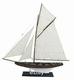 27 3/16in- Large, Decorative Yacht, Sail Boat, Ship Model Sailing Yacht Wooden