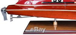 32 Luxury Wood Yacht Thunder-Boat Racing Nautical Home Decor Authentic Models