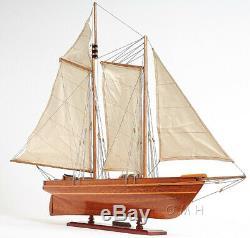 33 x28 America's Cup America Sailboat Wood Boat Model Yacht Assembled Mahogany