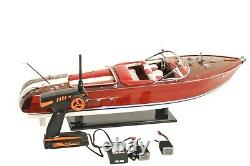 35 Large Riva Aquarama SPEED BOAT With RC MOTOR Wood Model Assembled Toy Gift