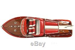 35-inch Vintage SPEED BOAT MODEL With Remote Control Motor 1960 Riva Aquarama