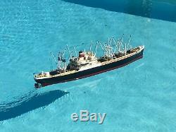 50 American Scout Rc Model Boat, Wood, Nos Dumas 12vt, Motor & Gear Futaba