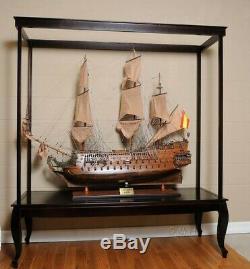 65 LARGE FLOOR STAND CASE For XL TALL SHIPS Boat Models Display Collectibles