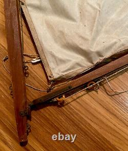 ANTIQUE MODEL WOODEN 36 SAILBOAT / POND BOAT Circa. Early 1900s