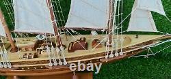 ATLANTIC Wooden Sailing Boat Model Ship Assembly Decoration Gift