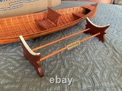 Adirondack Guideboat, 31 Wooden Model Boat With Oars And Stand, Brand New, Rare