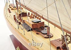 America's Cup Endeavour 1934 Yacht Wood Model 40 Sailboat J Boat New