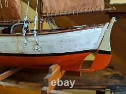 Antique 1939 folk art handmade Model schooner Scandinavian pilot boat 22