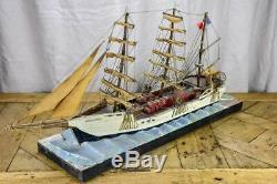 Antique French model boat,'Vigilante' ex voto