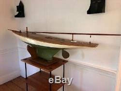 Antique Pond Yacht (Ship Model, Sailboat, Pond Boat, Nautical)