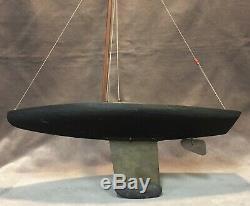 Antique Skeleton Keel Pond Yacht Boat Model