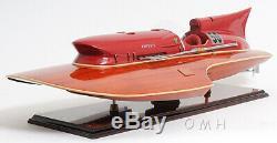 Arno Ferrari Hydroplane Racing Speed Boat 33.5 Built Wood Model Ship Assembled
