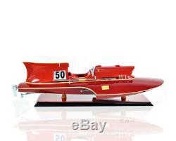 Arno Ferrari Hydroplane Wooden Power Speed Boat Racing Model 23 Fully Built New