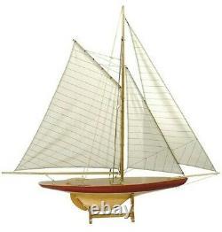 Authentic Models 1895 Sail Model Defender New As055 Rare Sailboat Ship USA
