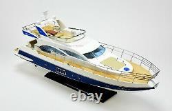 Azimut 64 Flybridge Yacht 34 Handcrafted Wooden Boat Model