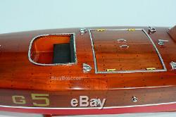 Baby Bootlegger Handmade Wooden Classic Boat Model 36 RC Ready