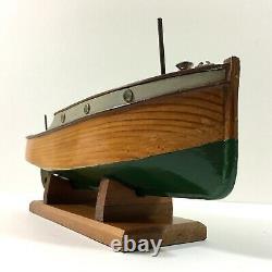 Beautiful Vintage Model Launch Boat Hyakutake Motorised Stand & Case