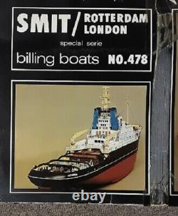 Billings Boats SMIT Rotterdam London Tug Wooden Ship Model Kit # 478