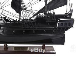 Black Pearl Caribbean Pirate Tall Ship 20 Built Wood Model Sail Boat Assembled