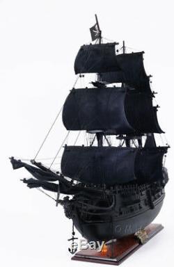 Black Pearl Caribbean Pirate Tall Ship Wooden Model 35 Sailboat Built Boat