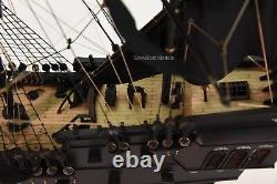 Black Pearl Pirate Tall Ship Handcrafted Wooden Ship Model 32 NEW