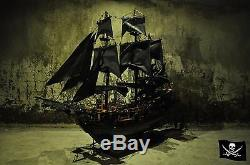 Black Pearl Pirates of Caribbean Tall Ship 60 cm. Wooden Model Boat Big Gift