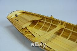 Boston Whitehall Tender Canoe 24 Wooden Handmade Row Boat Model