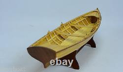 Boston Whitehall Tender Natural Canoe 24 Wooden Handmade Row Boat Model