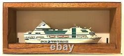 CARAT CFC-12 FRANCE FERRY NAPOLEON BONAPARTE 1/1250 MODEL SHIP With WOOD SUPPORT