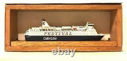 CARAT CFC-1 NORWAY FERRY COLOR FESTIVAL 1/1250 MODEL SHIP With WOOD SUPPORT