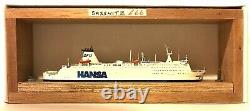 CARAT CFC-2 GERMANY FERRY SASSNITZ 1/1250 MODEL SHIP With WOOD SUPPORT