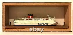 CARAT C-18 SWEDEN FERRY STENA GERMANICA 1/1250 MODEL SHIP With WOOD SUPPORT