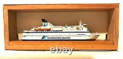CARAT C-35 DENMARK FERRY CROWN OF SCANDINAVIA 1/1250 MODEL SHIP With WOOD SUPPORT