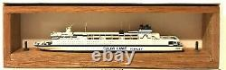 CARAT C-36 FINLAND FERRY FINNJET 1/1250 MODEL SHIP With WOOD SUPPORT