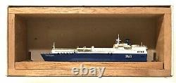 CARAT C-57 UK FERRY PRIDE OF FLANDERS 1/1250 MODEL SHIP With WOOD SUPPORT