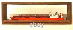 CARAT C-8 NORWAY ROLL-ON-ROLL-OFF TEXAS 1/1250 MODEL SHIP With WOOD SUPPORT