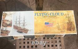 C Mamoli Flying Cloud Clipper 1851 Scale 196 Wood Ship Unbuilt Model Italy HTF